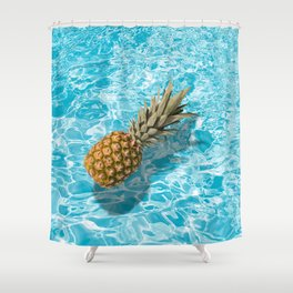 PINEAPPLE & POOL Shower Curtain