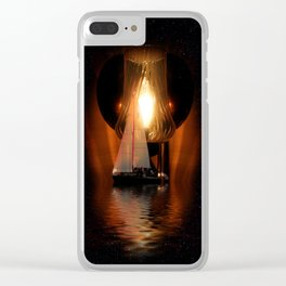 Sailing Under the Stars Clear iPhone Case
