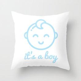 it's a boy Throw Pillow