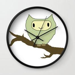 owl on a perch Wall Clock