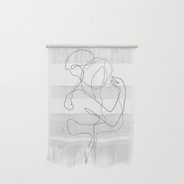 Lovers - Minimal Line Drawing Wall Hanging