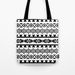 Aztec Stylized Lg Pattern II BW Tote Bag