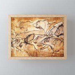 Panel of Lions // Chauvet Cave Framed Mini Art Print