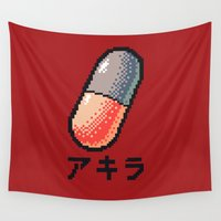 akira Wall Tapestries featuring Akira - What a pill ? by AmaSan
