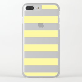 Simply Stripes in Pastel Yellow Clear iPhone Case