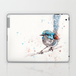 Mischief In The Making (Variegated Fairy Wren) Laptop & iPad Skin