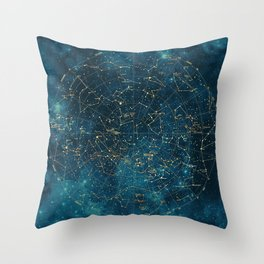 Under Constellations Throw Pillow