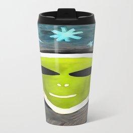 Martian In Paint Travel Mug