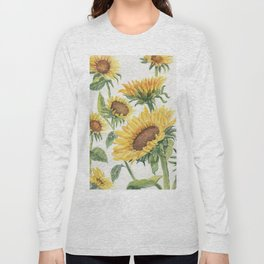 Blooming Sunflowers Long Sleeve T-shirt