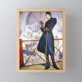 Portrait Of Adolfo Best Maugard - Diego Rivera Framed Mini Art Print