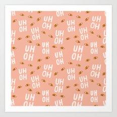 Uh-Oh Pattern Art Print
