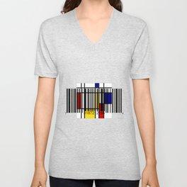 Barcode 004 Unisex V-Neck
