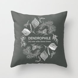 Dendrophile Olive Green Throw Pillow