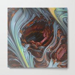 Glacial Mass II. Wind & Fire 3D Abstract Art Metal Print