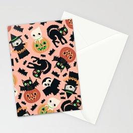 Halloween Gang Pink Stationery Cards