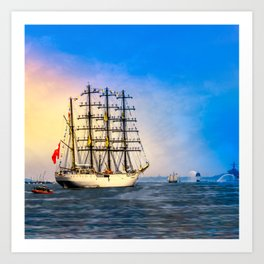 Sail Boston - Union Art Print