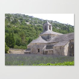 Lavender at the Abbey Canvas Print