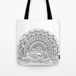 Spaghetti Sunrise Tote Bag