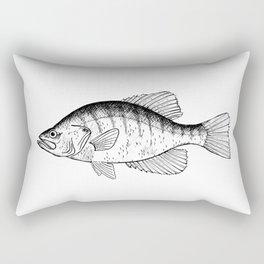 White Crappie Rectangular Pillow