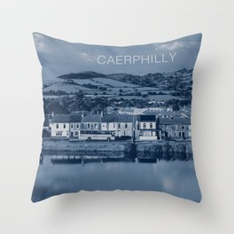 Caerphilly, South Wales Throw Pillow
