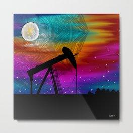 Pumpjack- Oilfield Strong Metal Print