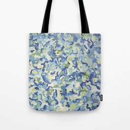 Water Play in Green Tote Bag