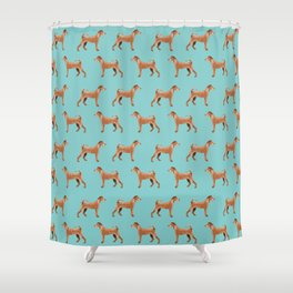 Irish Terrier dog breed pet pattern dog art pet friendly terriers portrait Shower Curtain