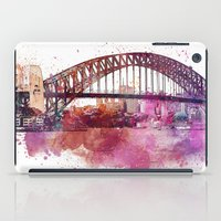 sydney iPad Cases featuring Sydney Harbor Bridge by LebensART