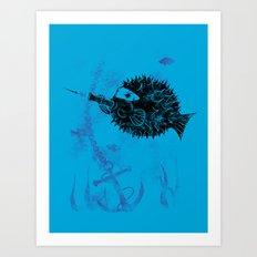 Blowgun Fish Art Print