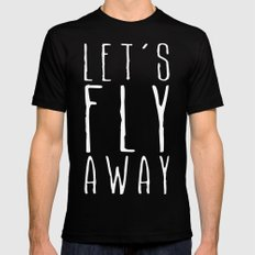 Let's Fly Away Mens Fitted Tee MEDIUM Black
