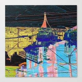 toronto collage - night Canvas Print