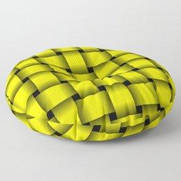Large Yellow Weave Floor Pillow