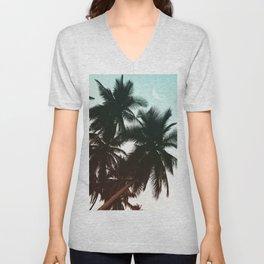 Summer Gradient Palms Unisex V-Neck