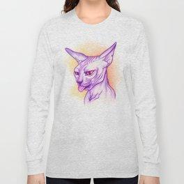 Sphynx cat #02 Long Sleeve T-shirt