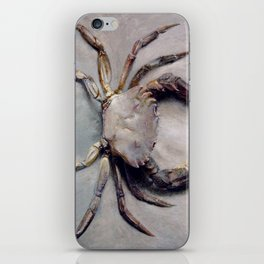 Vintage Crab Painting iPhone Skin