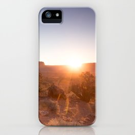 Setting Desert Sun iPhone Case