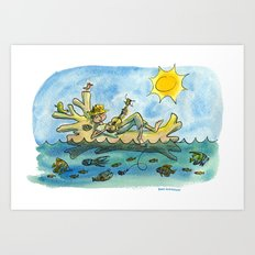 Just Drifting Along Art Print