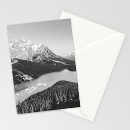 Landscape Photography Peyto Lake | Black and white Stationery Cards