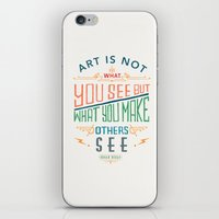 degas iPhone & iPod Skins featuring Edgar Degas Quote by Bacht