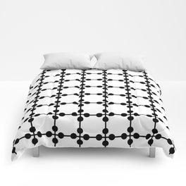 Droplets Pattern - White & Black Comforters