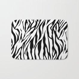 Black and white Zebra pattern Bath Mat