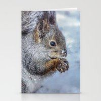 squirrel Stationery Cards featuring Squirrel by Svetlana Korneliuk