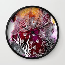 Under Wave Wall Clock