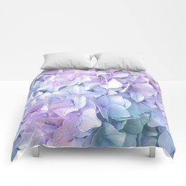 Soft Pastel Hydrangea Comforters