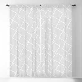 Tilting Diamonds in Grey Blackout Curtain