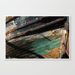 Burghead Boat 3 Canvas Print