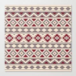 Aztec Essence Ptn IIIb Red Cream Taupe Canvas Print