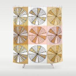Macrame Circles Shower Curtain