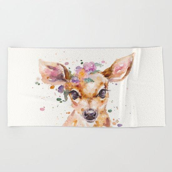 Little Deer Beach Towel
