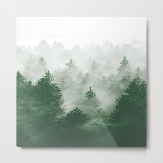 Foggy Woods III Metal Print
